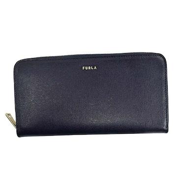 ◆新品本物◆フルラ BABYLON XL ラウンドファスナー長財布(BL)『PCX7』◆