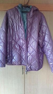 中綿リバーシブルジャケット〓ネイビープロデュース!!紫×緑