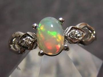 新品 天然オパール デザインリング 15.5号 指輪