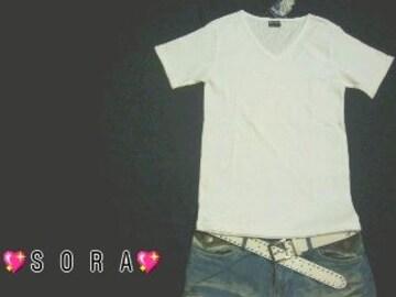 【BODY WAVE】シンプル無地♪VネックTシャツ
