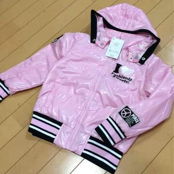 新品◆中綿ブルゾン◆ピンク130ギャル系ジャンパー