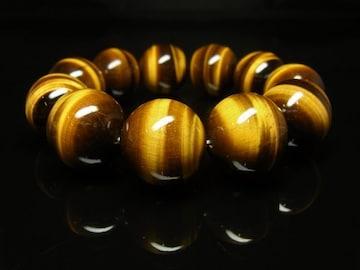 タイガーアイブレスレット 20ミリ数珠パワーストーン 最強金運天然石