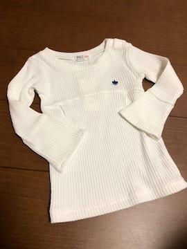 POLO Baby  ポロ リブニット フレア袖 90cm