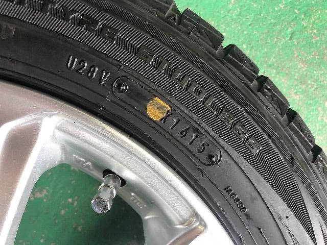 0101245)激安国産ダンロップスタッドレスタイヤアルミホイ-ルセット155/65R14送料無料 < 自動車/バイク