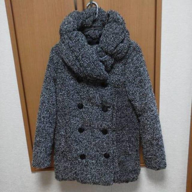 CRYX★リングツイード大衿中綿Wボタンコート  < 女性ファッションの