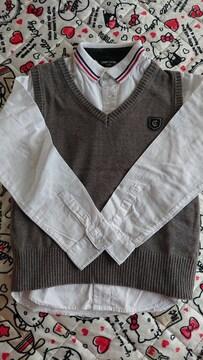 COMME CA ISM ワイシャツ&ベスト 120cm