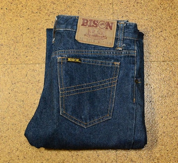 W27 70年代製 国産ビンテージ バイソンBISON 0516 倉敷デニム
