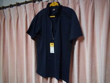 ASのポロシャツ(LL)ネイビー&ブラック新品タグ付き袋入り!。1