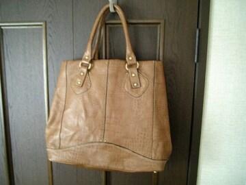 *  革の高級バッグ  * 定価49800円