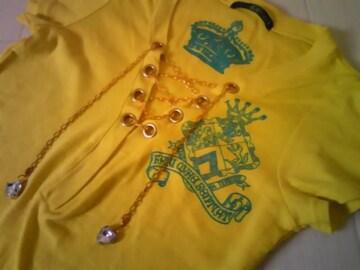 ハートジュエル ゴールドチェーン 半袖Tシャツ
