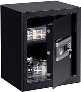 ブラック XL SLYPNOS 金庫 テンキー式 電子金庫 防犯金庫 緊急キ