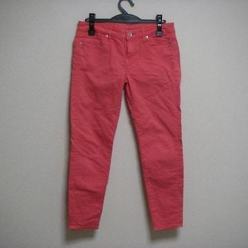 ユニクロ W66 パンツ 細め 赤ピンク系