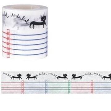 中国文具For Funマスキングテープ黒猫メモTODOリスト5cm幅10M