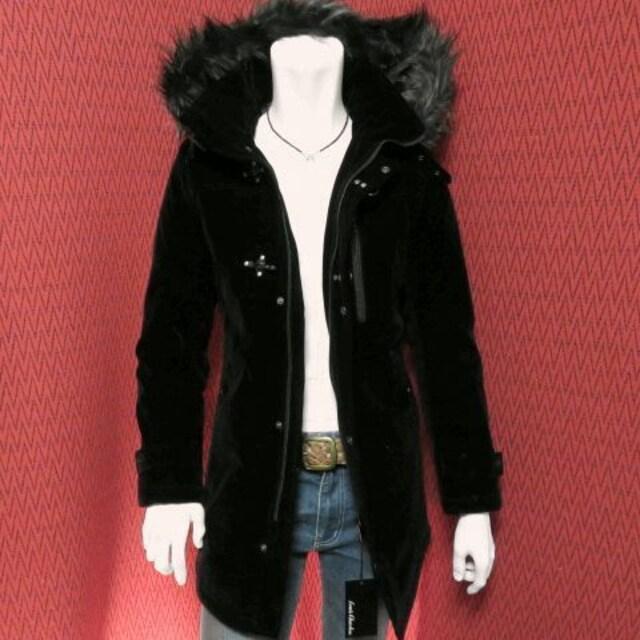 SALE ベルベットファイヤーマンバックルコート/BLK/M  < 男性ファッションの