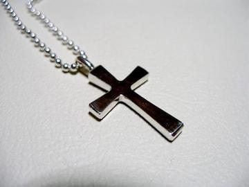 仁尾彫金『フラットプラチナクロス3』十字架ハンドメイド