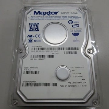 Maxtor DiamondMax Plus 9 SATA接続/150 80GB HDD