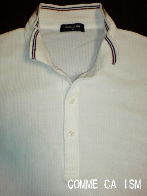 □COMME CA ISM/コムサイズム 襟付 サーマルシャツ/メンズ☆新品 < ブランドの