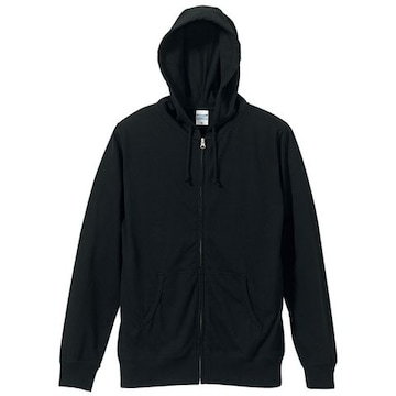 United Athle 5.6オンス フルジップ パーカ ブラック XL