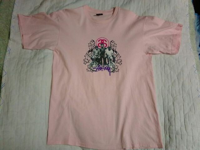 ステューシー★フォトTシャツ M used  < ブランドの