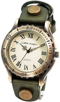 アンティーク 風 腕時計 ブラック
