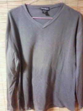 サイズM   VネックTシャツ   グレー