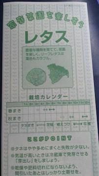 家庭菜園、レタス栽培方法冊子 れたす