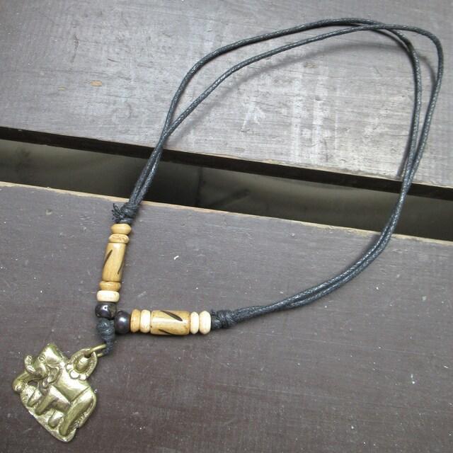 真鍮トップネックレス*ぞう1 < 男性アクセサリー/時計の