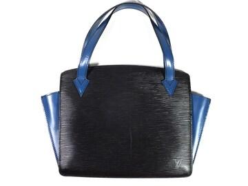 正規ルイヴィトンエピハンドバッグヴァレンヌ青黒M5
