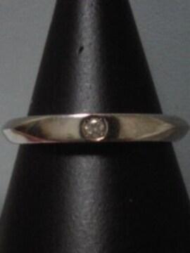 新品同ageteプラチナPt200刻印入天然石ダイヤモンドリング重ね付け