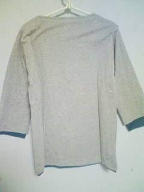 A-391☆新品☆7分袖ボーダー柄レイヤードシャツセットM < 男性ファッションの