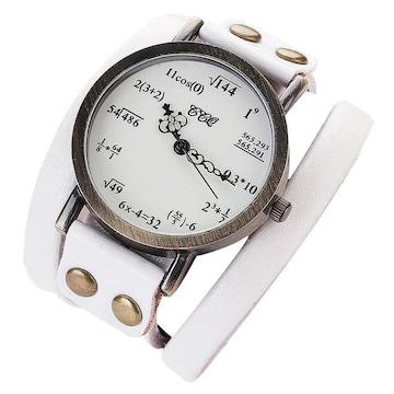 数式 腕時計 ホワイト