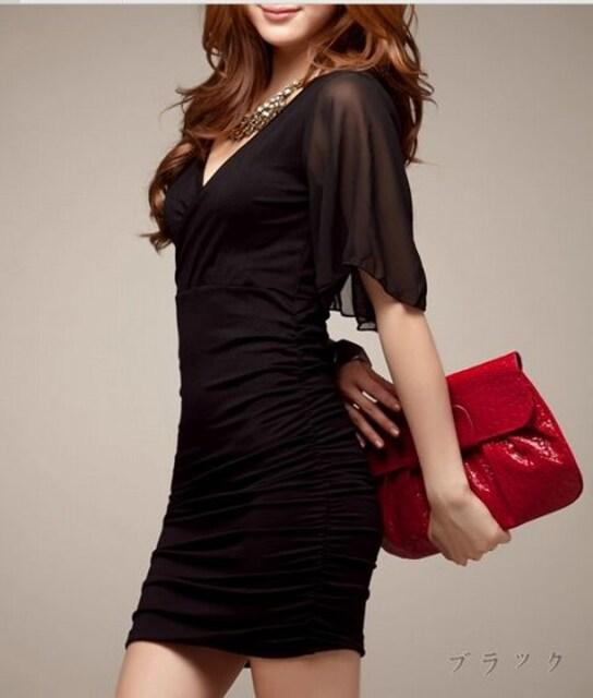 セクシー タイト ミニワンピ ワンピース レディース ドレス パーティー キャバ  < 女性ファッションの