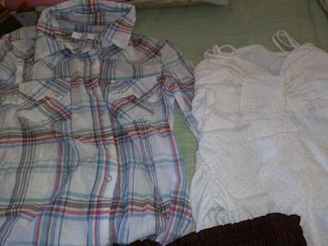 シャツ&キャミソール&スカート  3点セット