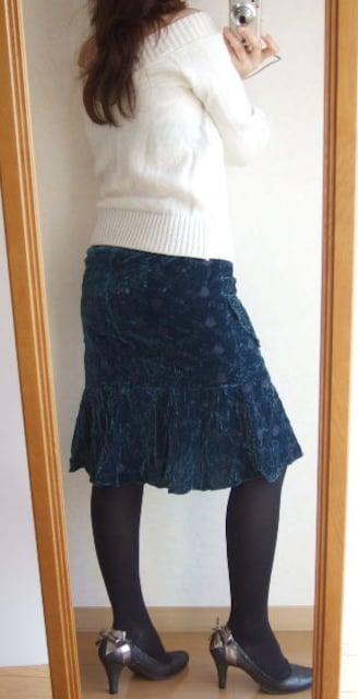 400新品★女性らしいマーメイドタイトスカート ターコイズ < 女性ファッションの