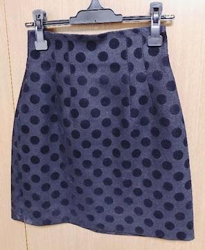 �@ルシェルブルードット柄 スカート 36サイズ