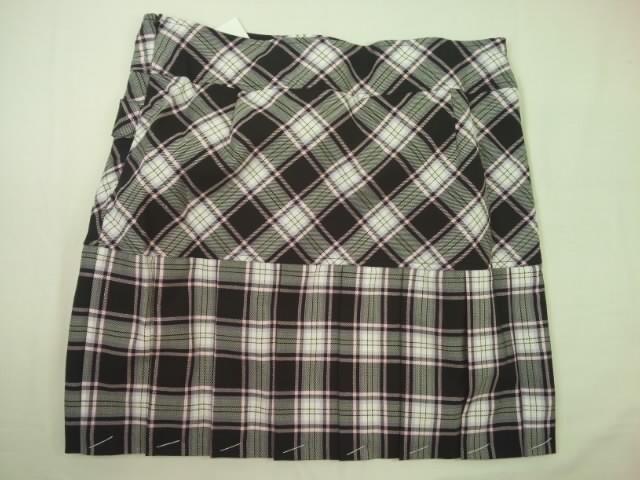 半額以下処分メゾピアノ定価14490円チェックプリーツスカート&リボンネクタイセット < ブランドの