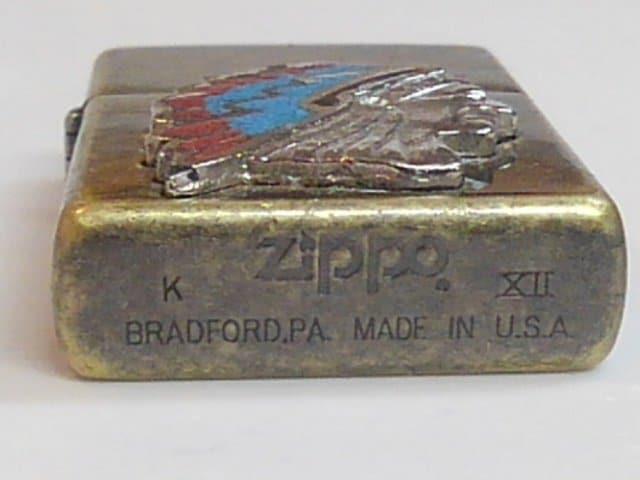 送料込み ジッポ ZIPPO インディアン アメリカン USA 天然石