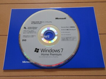 [美品]Microsoft Windows7HomePremium 32bit版