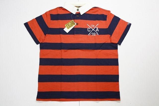 オーシャンパシフィックポロシャツXL赤×紺◆マリン系  < 男性ファッションの
