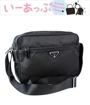 プラダ ショルダーバッグ 黒 PRADA ナイロン 美品 k594