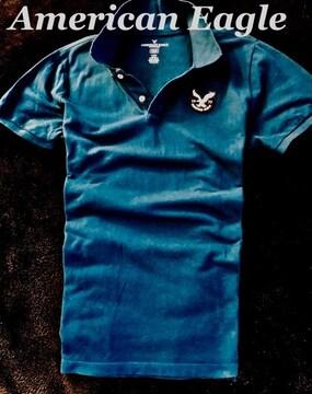 【アメリカンイーグル】ポロシャツ Slim Fit US-L/Blue