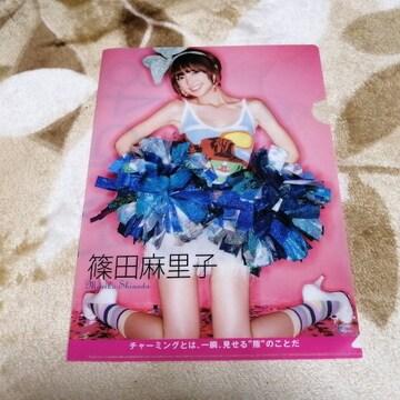 元AKB48篠田麻里子☆AKB48オフィシャルカレンダBOX 2011年付録クリアファイル!