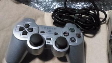 PS2 コントローラー デュアルショックシルバー 純正品