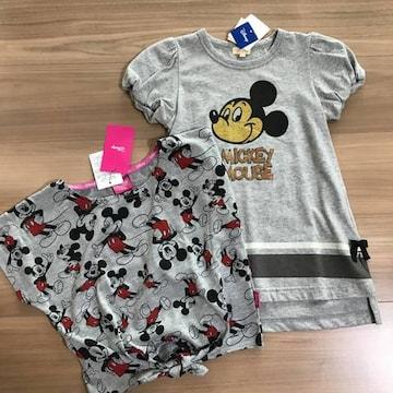 新品タグ付き120半袖Tシャツ ワンピース ディズニーミッキー.19