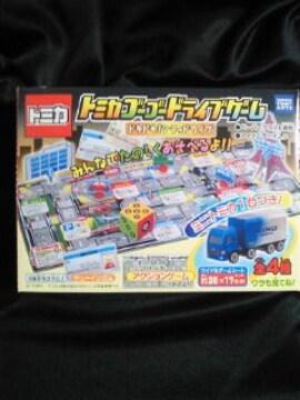 トミカ ゴーゴードライブゲーム 働く車 ミニカー 4個セット ガム バス トラック パトカー
