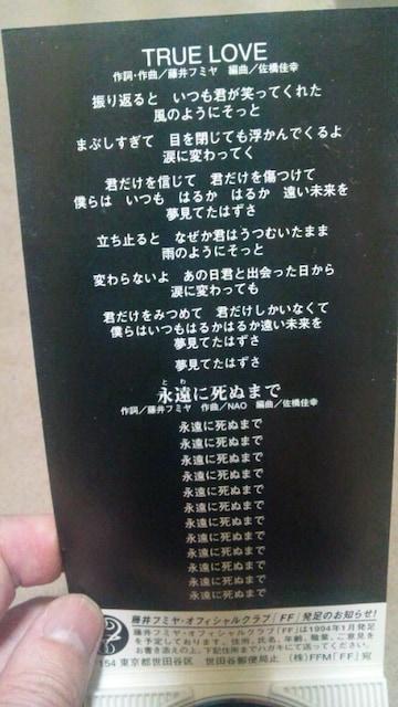 藤井フミヤ  TRUE LOVE < タレントグッズの
