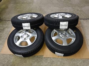 145/80R12 スタッドレスタイヤ、アルミホイール付4本セット