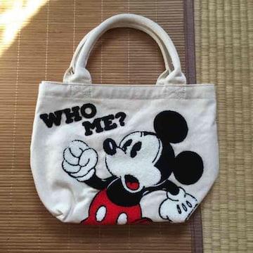 ディズニー・ロゴ&ミッキーマウスサガラ刺繍バッグ