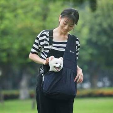 肩掛けペットバッグ スリング キャリーバッグ 調整可能 小型犬・