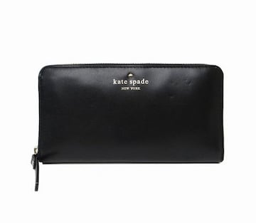 ケイトスペード PWRU2266 ラウンドファスナー長財布 ブラック 新品同様 送料無料